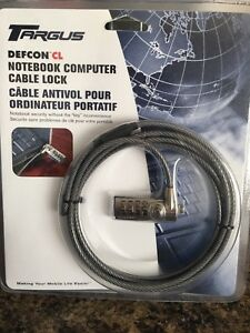 Targus Defcon CL Notebook Computer Cable Lock