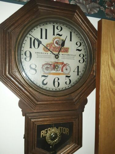 Sessions, Indian Motorcycle Advertising Clock