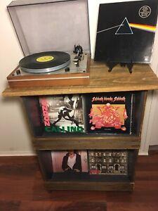 Vinyl Records. Storage. Turntable.