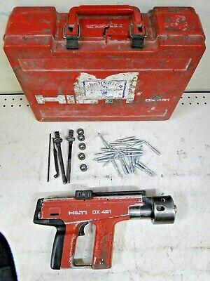Hilti Dx 451 Powder Actuated Nail Stud Gun Fastener Tool W Case