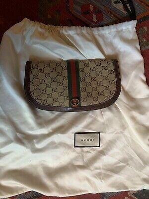 vintage Gucci Monogram Clutch Handbag