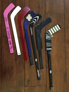 Mini sticks for hockey 2 goalie and 5 player sticks