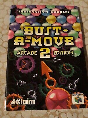 Notice du jeu Nintendo N64 FR bust a move arcade 2 édition