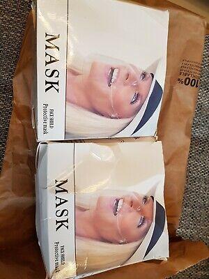 Zwei Masken Neu Durchsichtig/ Face sheld/ Mund und Nasenschutz mit Filter