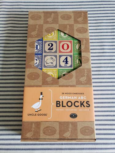 Uncle Goose German ABC Wooden Blocks