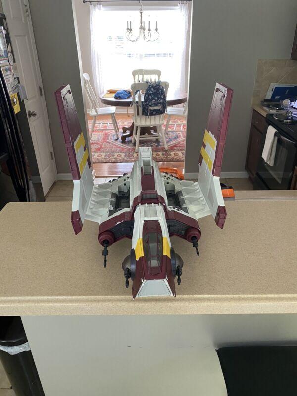 Huge 2010 Hasbro Star Wars The Clone Wars Attack Shuttle, Near Complete!