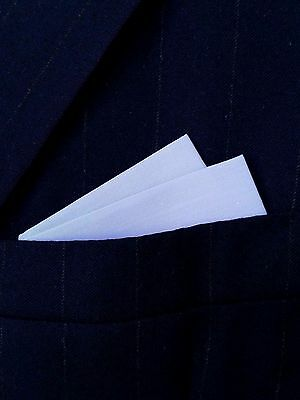 POCKET SQUARE Light Kentucky Blue 2 point wing style - pre-folded & Sewn