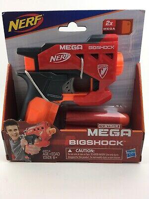 Nerf• N-Strike Mega BigShock Blaster  with 2X Darts• Hasbro• New in Package