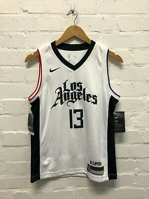 Nike LA Clippers NBA Kid's City Basketball Jersey - 10-12 Years - George 13 -New
