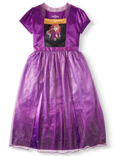 NEW -Disney Frozen 2 II Gown Nightgown Pajamas Anna Purple - Free Shipping