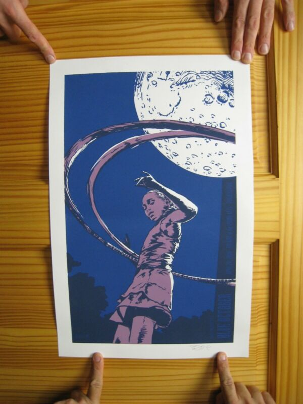 Blue October Poster Silk Screen Mint Signed Perkins Philadelphia April 2009