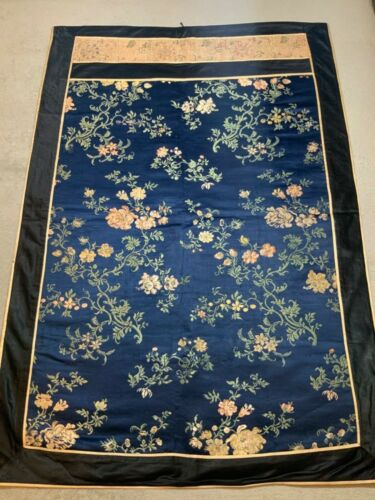 ANTIQUE 19th/ 20th c QI'ING CHINESE BROCADE SILK PANEL EMBROIDERED EMBROIDERY #4