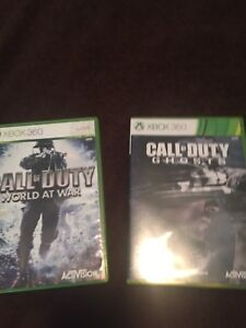 Call of duty world at war and call of duty ghosts