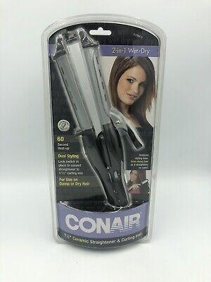 """Conair 2-in-1 Straightener / Curling Iron - Ceramic 1.5"""" Wet/Dry - (Conair 2 In 1 Straightener & Curling Iron)"""