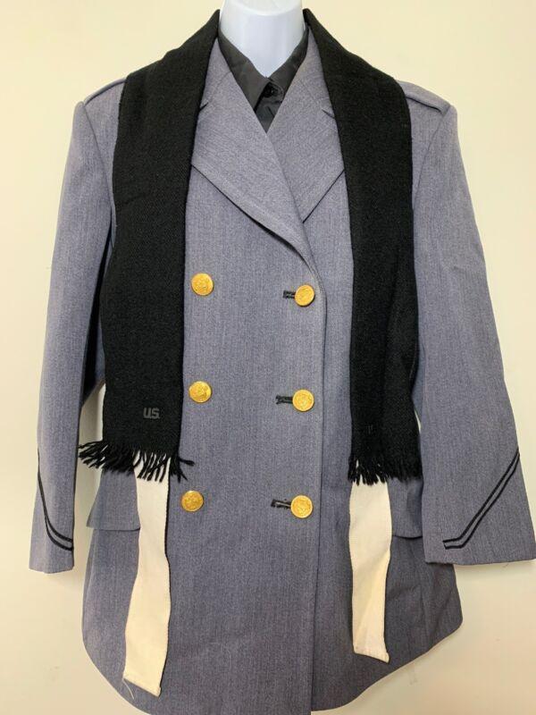 USMA West Point Uniform Military Academy Jacket Shirt Scarf 1990s Female