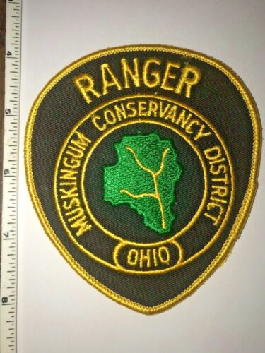 Muskingum Conservancy District Ranger Ohio Police Oval Patch Hard to get New