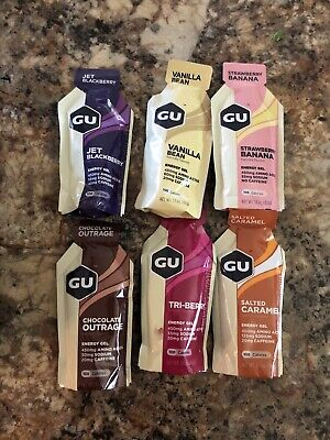 GU Energy Original Sports Nutrition Energy Gel Assorted Flavors 24 Count Box