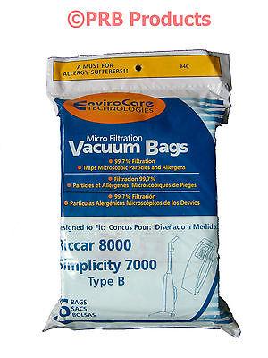 Type B Upright Vacuum Cleaner Bag #846 Fits Riccar 7000 8000