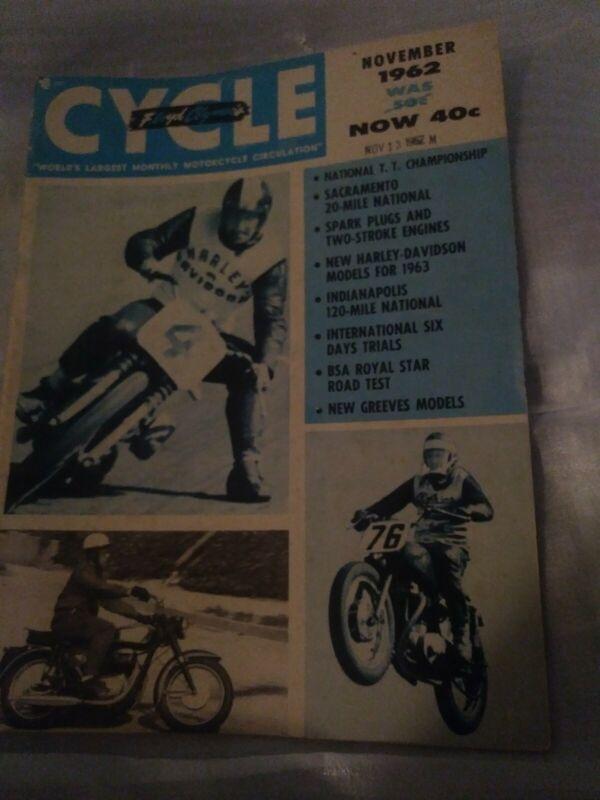 1962 FLOYD CLYMER CYCLE MAGAZINE: NOVEMBER