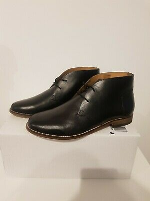 H By Hudson Black Real Leather Arkin chukka boots Size UK 9 EUR 43 RRP £95