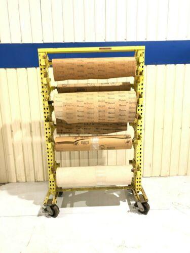 """Rolling Storage Cart / Shelving, 36"""" Wide rolls, Garlock Gaskets, Rack"""