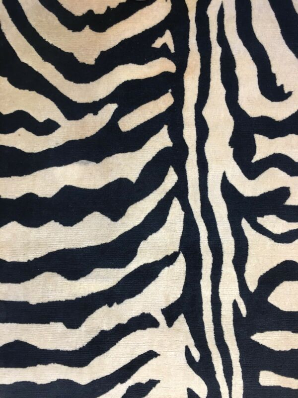 Zestful Zebra - Vintage Tibetan Rug - Nepalese Carpet - 8.6 X 11.6 Ft.