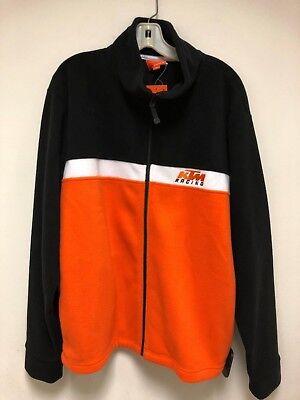 KTM Racing Motocross MX SX Team Fleece Zip Up Sweatshirt XL NEW AUTHENTIC for sale  Shipping to India
