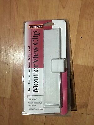Computer Monitor Document View Clip Holder Kensington - New In Package