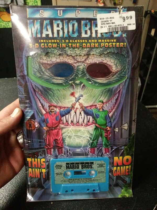 Super Mario Bros. Movie 3D Glow in the Dark Audio Poster Pack 1993 New sealed