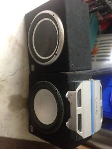 2 subwoofers and amp
