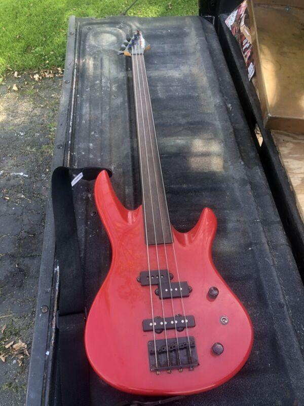Samick Cherry Electric Bass Guitar, Estate Found