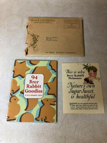 BRER RABBIT GOODIES molasses cook book orig envelope 1940s DISNEY CHARACTER