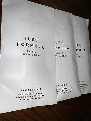 3xILES FORMULA HAUTE PERFORMANCE SHAMPOO CONDITIONER SERUM 3 SAMPLES 9 ML EACH