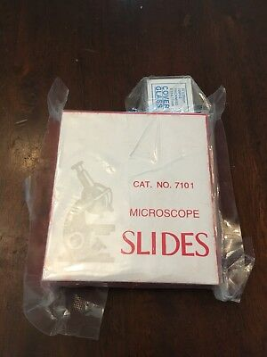 72 Blank Microscope Slides 1x3 With 100 Square 22x22mm Cover Slips