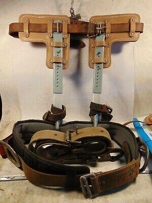 Klein Son Co Adjustable Steel Poletree Climbing Spursspikesgaffs
