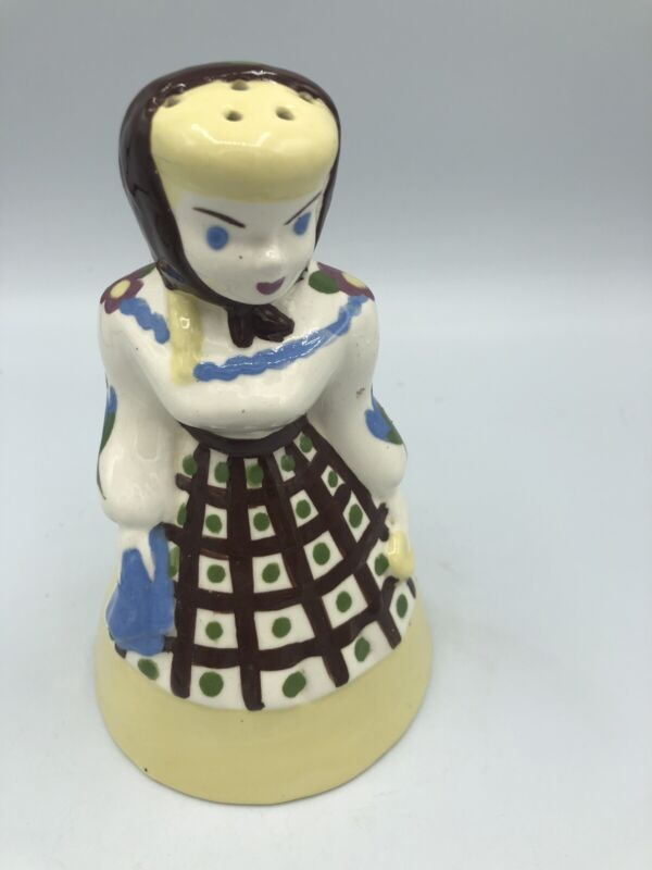 "Vintage THE CALIFORNIA CLEMINSONS Ceramic Shaker GIRL 6.25"""
