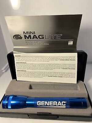 Mini Maglite Generac  With Case And AA Batteries