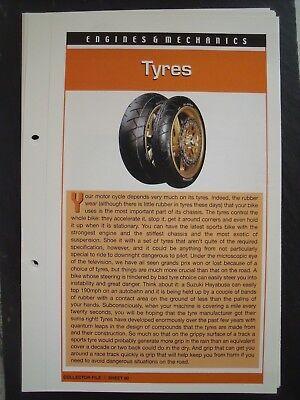 engine & mechanics TYRES collector file fact sheet.
