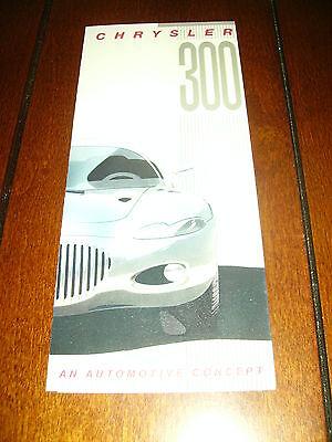 1990 CHRYSLER 300 CONCEPT CAR V-10  ***ORIGINAL FACTORY BROCHURE***