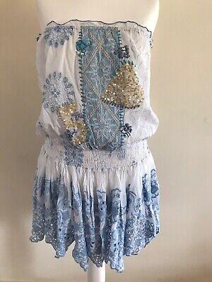 Antica Sartoria Strapless Mini  Dress One Size New Beaded Ibiza