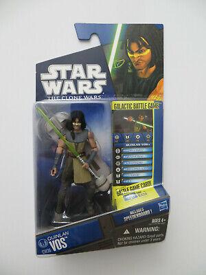 Star Wars The Clone Wars 2010 CW36 Quinlan Vos with speederboard MOC Case Fresh