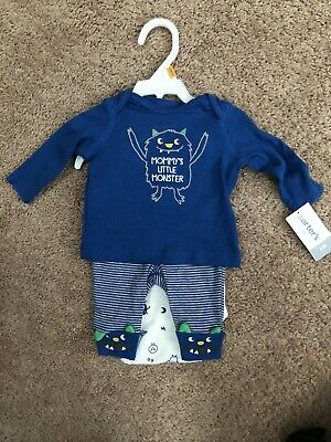 Carters Newborn Mommy's Little Monster  Outfit Bodysuits and Pants Little Monster Pant