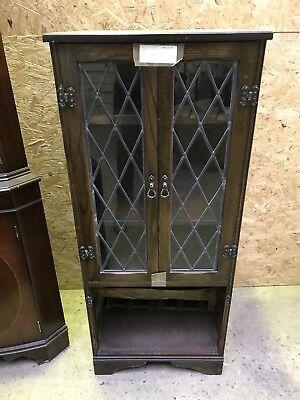 Antique Wooden Corner Mahogany Cabinet -Hall Drinks Bathroom Cupboard Bookcase