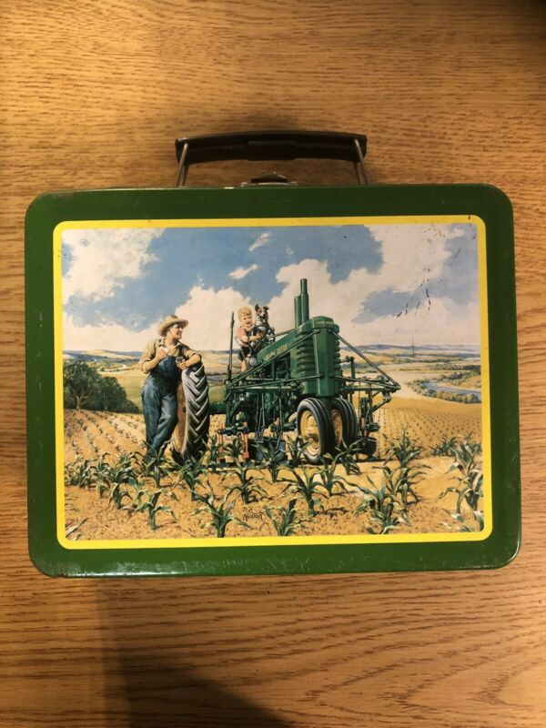 Vintage Metal John Deere Lunch Box Lunchtime Item # 22001