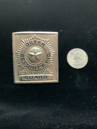 Vintage Deter Security Guard Badge Screw Back