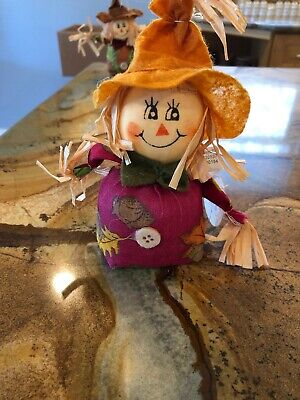 "Fall Themed Beanbag Scarecrow Decoration 7"" Tall](Fall Themed Decorations)"