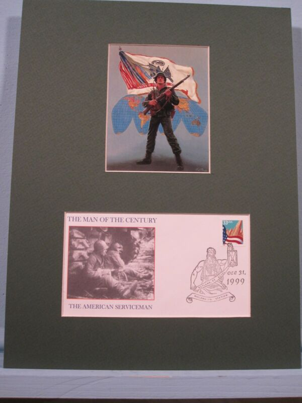 The American Serviceman as The Man of the Century & Commemorative Cover