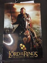 2 laminated lord of the rings posters (large) and Lotr trading cards Ascot Brisbane North East Preview