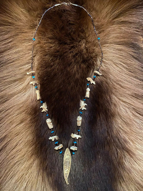 Hopi Corn Maiden Necklace, Handmade