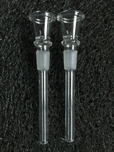 """2 PC 14mm Male Glass Downstem with Bowl Stem Replacement for 8"""" Glass Water Pipe"""